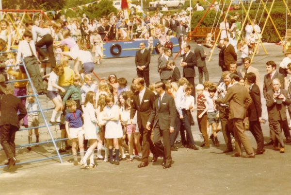 Duke of Edinburgh Attending Opening Of Children's Playground At Mount Lodge - Windsor Place, early 1970s