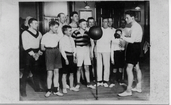 Boxing Instruction At Cotter's Gym, January 1931