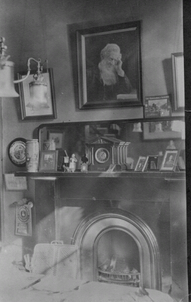 Interior With Portrait And Fireplace 1912