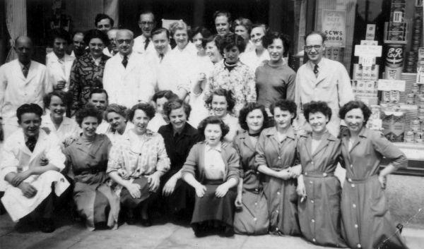 Co-op Staff Outside St Cuthberts Piersfield Terrace Branch 1952