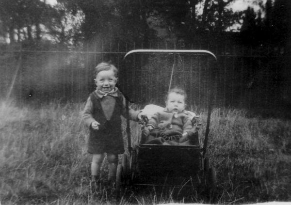 Two Brothers In Holyrood Park By Top of Milton Street 1932