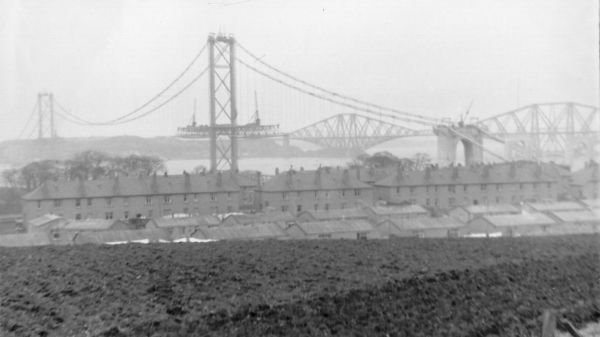 View Of Forth Road Bridge Under Construction 1963
