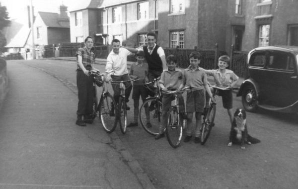 Group Of Boys On Their Bikes 1959