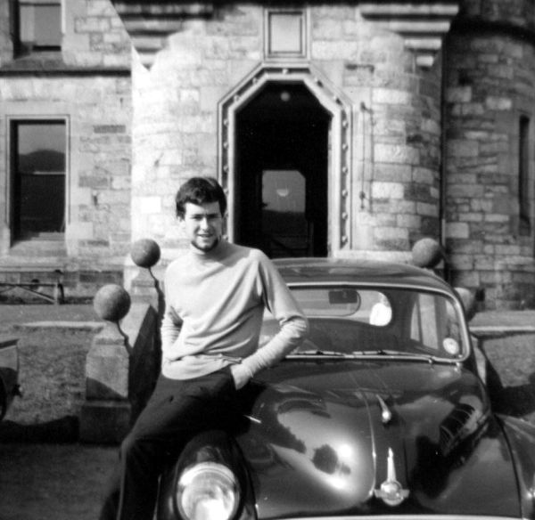 Young Man Sitting On Car At Bonskeid House, Sept 1966