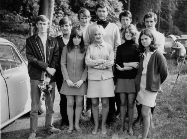 Young Adults On Holiday At Bonskeid House 1968