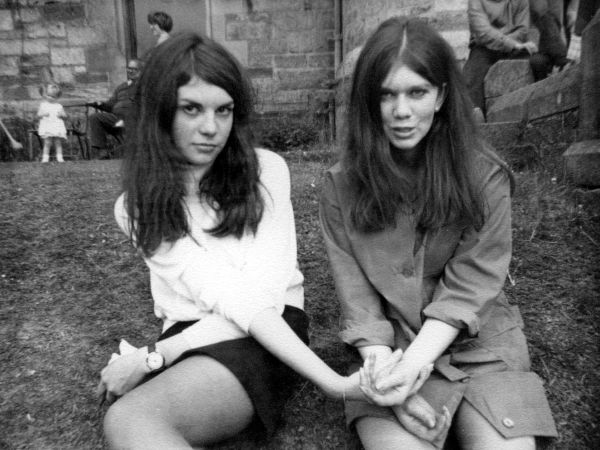 Two Young Women On Holiday At Bonskeid House 1968