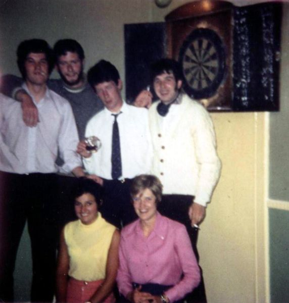 By The Dartboard At The Public Bar Of The Loch Tummel Hotel, July 1969