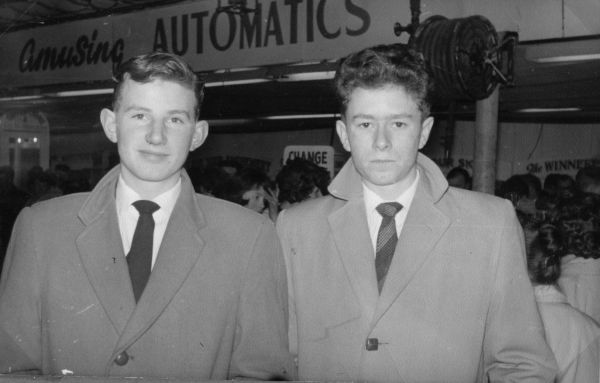Two Young Men At Waverley Market On Christmas Eve 1960