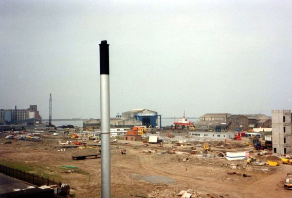 Construction Site Of The Scottish Executive Building Victoria Quay, 27th Oct 1994