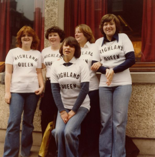 Young Women Gathered Ahead Of A Sunday Sponsored Walk 1985