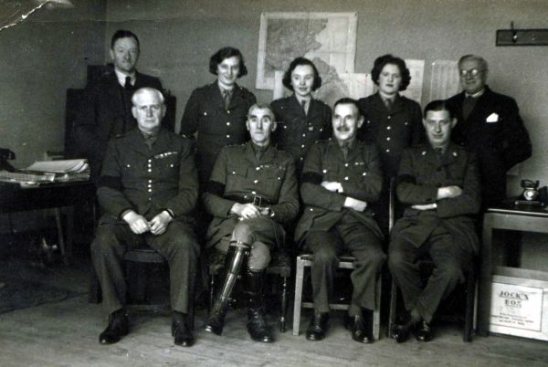 Scottish Command And ATS Members c.1940