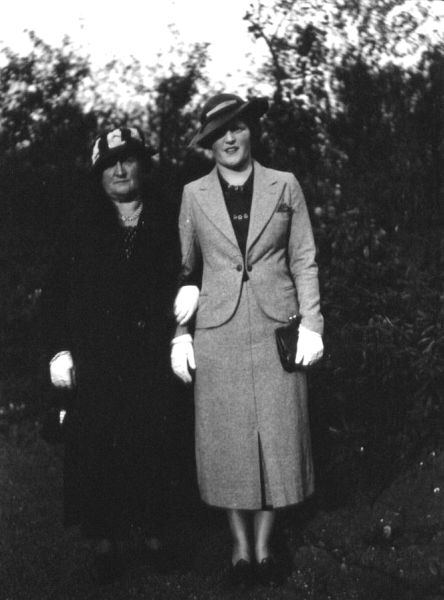 Mother And Daughter Arm In Arm c.1938