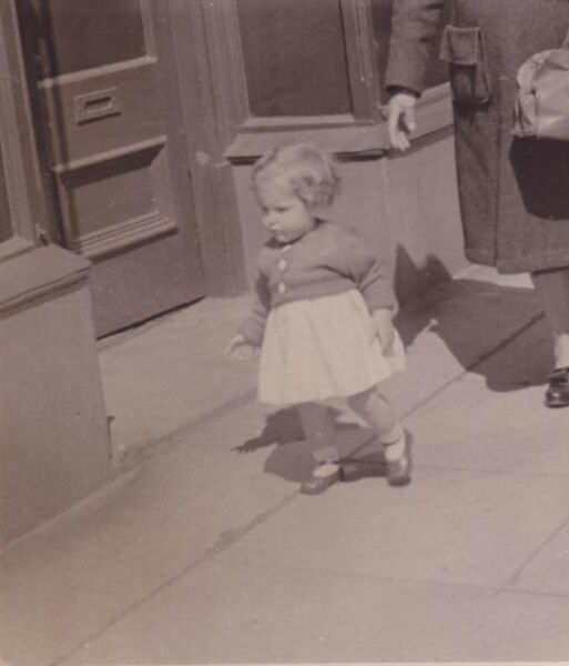 Young Girl Walking Along A Stirling Street 1948