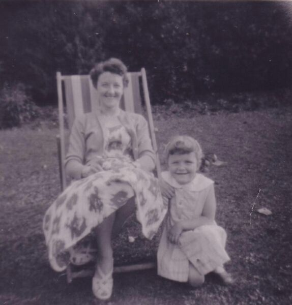 Mother And Daughter On Deckchair In Princes Street Gardens 1958