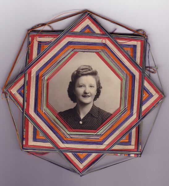 Portrait Woman In Threaded Handmade Frame c.1943