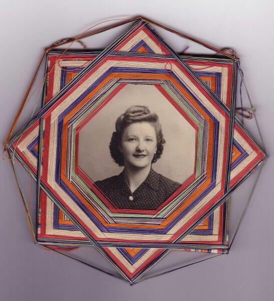 Portrait Woman In Threaded Handmade Frame c.1943