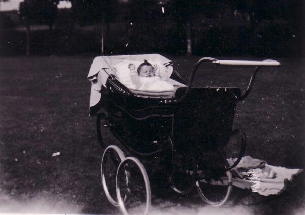 Baby In Pram At Victoria Park 1947