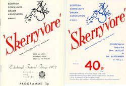 Programme and flyer for 1972 production of 'Skerryvore'.