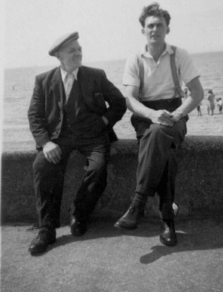 Uncle And Nephew On The Seafront At Ayr 1957