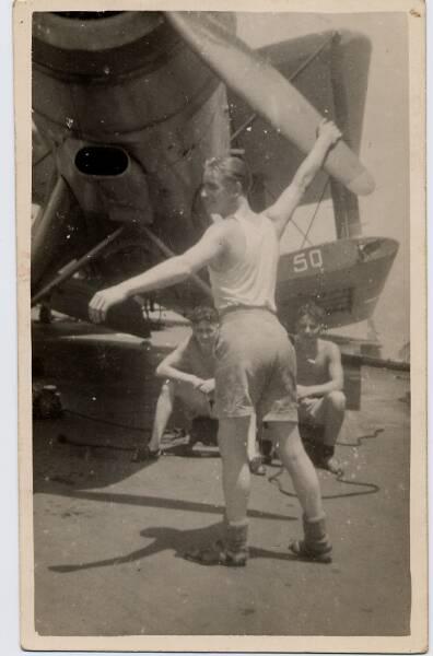 Servicemen Of Fleet Air Arm Prepare Biplane For Flight 1940