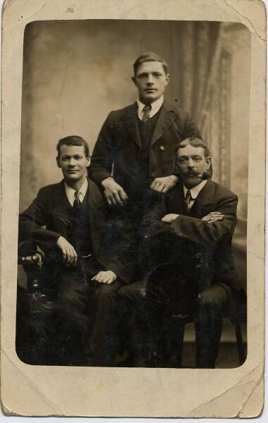 Studio Portrait Three Men c.1900