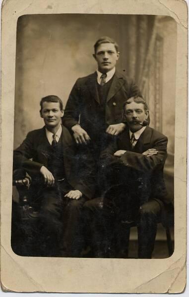 Studio Portrait Three Men c.1900