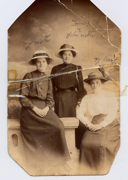 Studio Portrait Three Sisters 1915