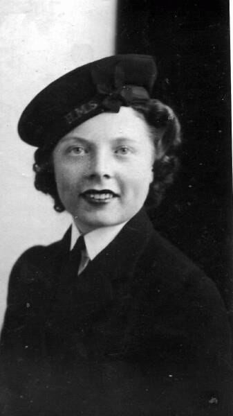 Portrait New Recruit To The Women's Royal Naval Service 1942
