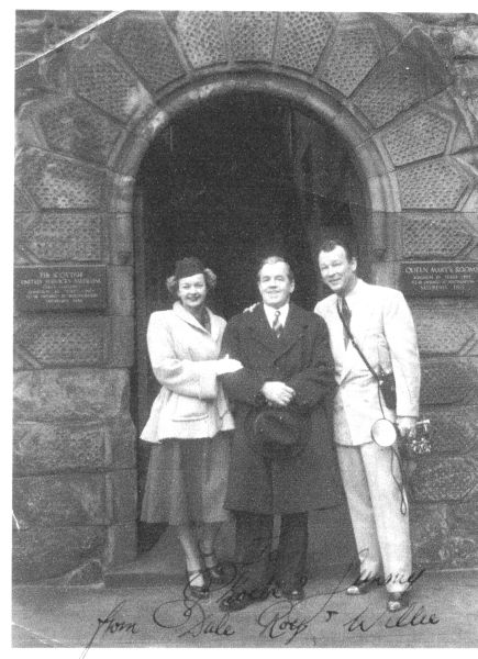 Willie Merrilees With Roy Rogers And Dale Evans Outside Dunforth Church On Park Road 1950s