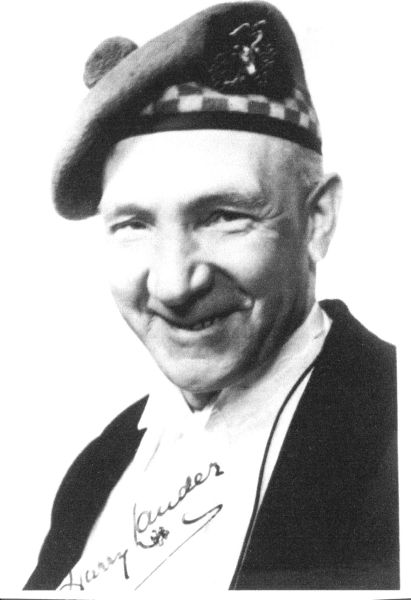 Signed Portrait Of Harry Lauder 1940s