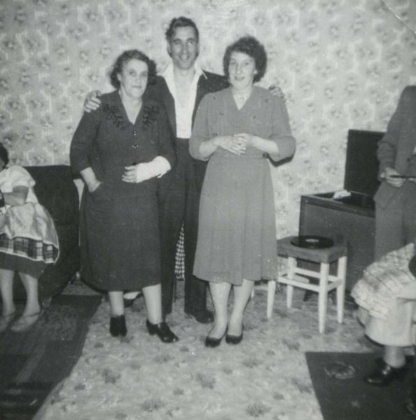 Family Get-Together In Living Room At Home in Crewe Road 1959
