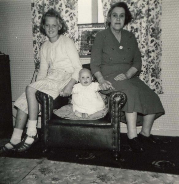 Baby Sitting In Armchair At Home In Crewe Road 1961