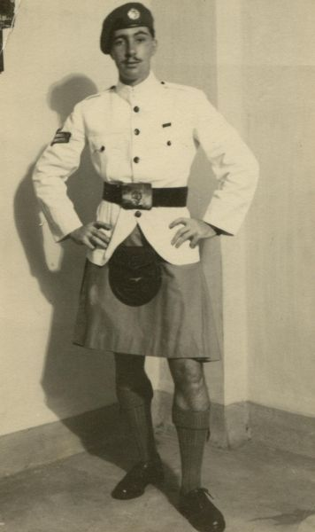 RAF Member In Kilted Uniform 1950s