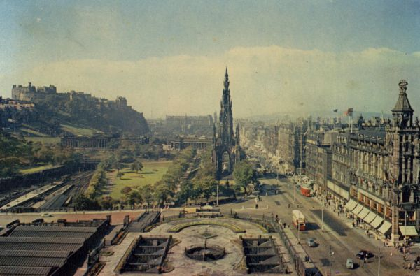 Princes Street And Scott Monument Looking West 1940s