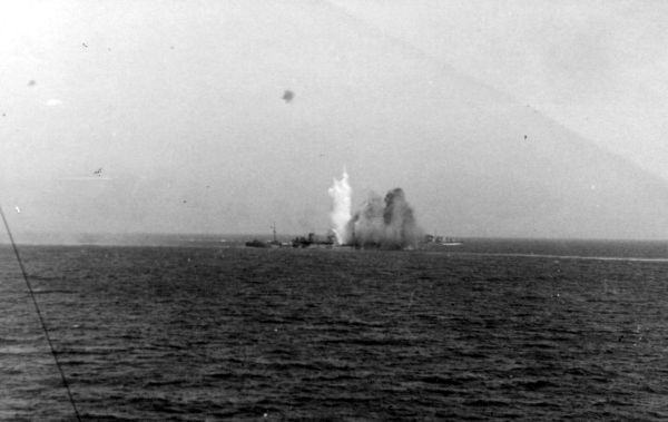 Ship Exploding After Being Hit 1940s