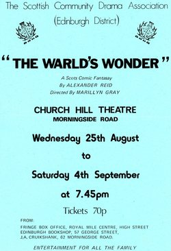 The Warld's Wonder, 1976 flyer