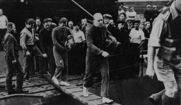 Prisoners Disembarking Submarine 1940s