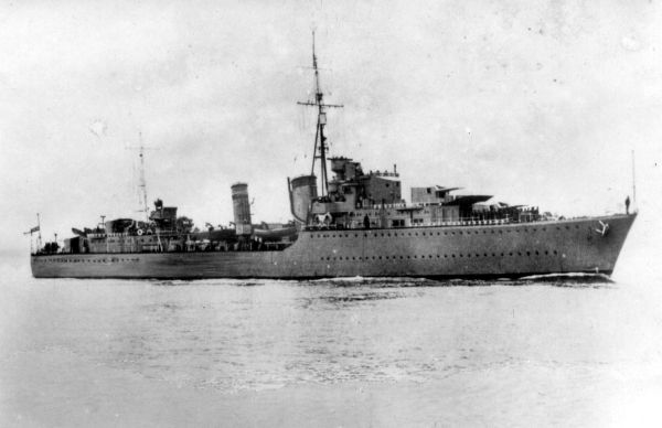 Unidentified Ship Of The Royal Navy Fleet 1940s