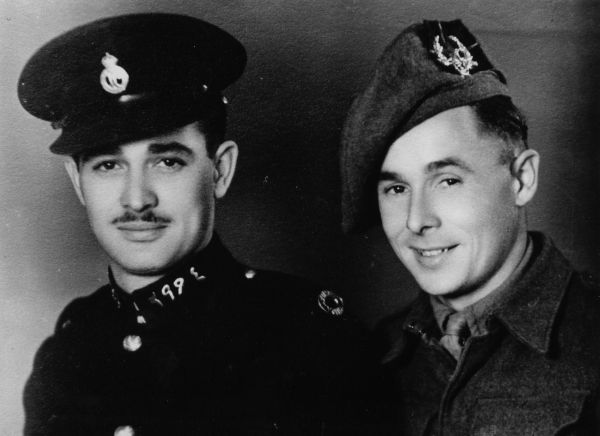 Portrait Two Brothers During Wartime 1940s