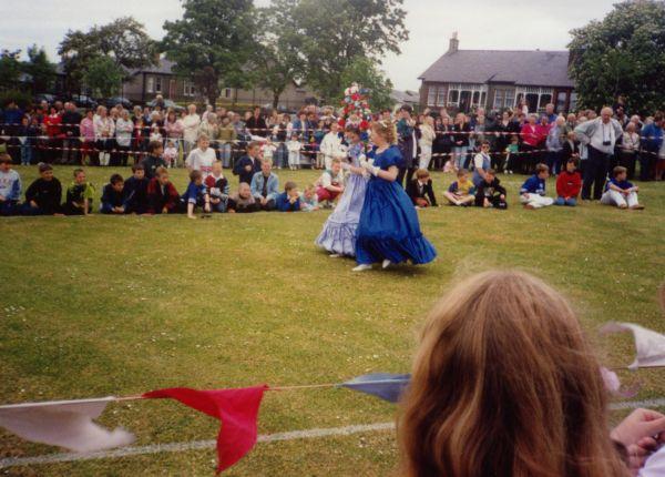 Two Girls On Parade In Newtongrange Gala Day Celebration c.1988