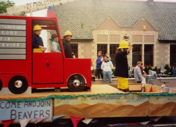 Fireman Float At Newtongrange Gala c.1988
