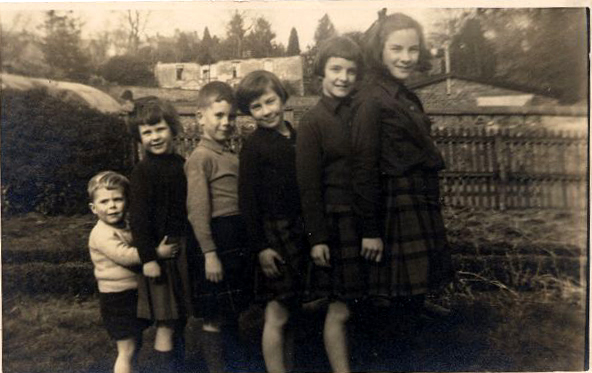 Six Children Standing All In A Line, May 1943