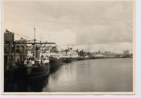 Ships At Berth In Belfast 1959