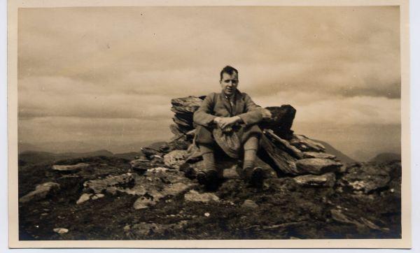 Hillwalker On Summit Of Beinn Dorain, 24 May 1936