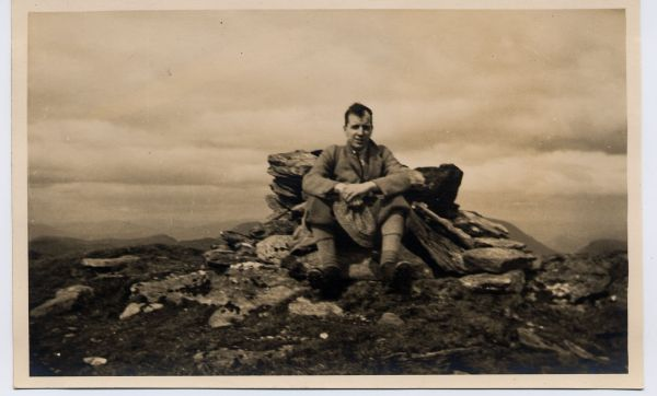 Hillwalker On Summit Of Beinn Dorain, 24 May 1936