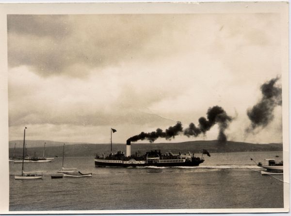 Clyde-Built Paddle Steamer Off Gourock 1928