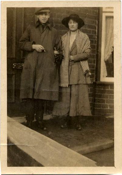 Young Couple In Doorway 1920s