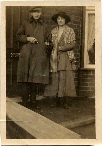 Young Couple In Doorway 1920s