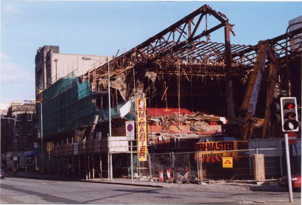 Demolition Of ABC Auditorium On Morrison Street 2001