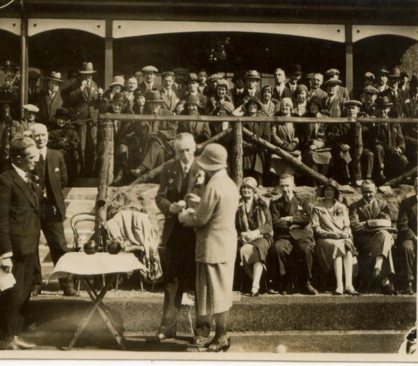 Presentation Of Prizes At Kingspark Bowling Club In Glasgow 1930s